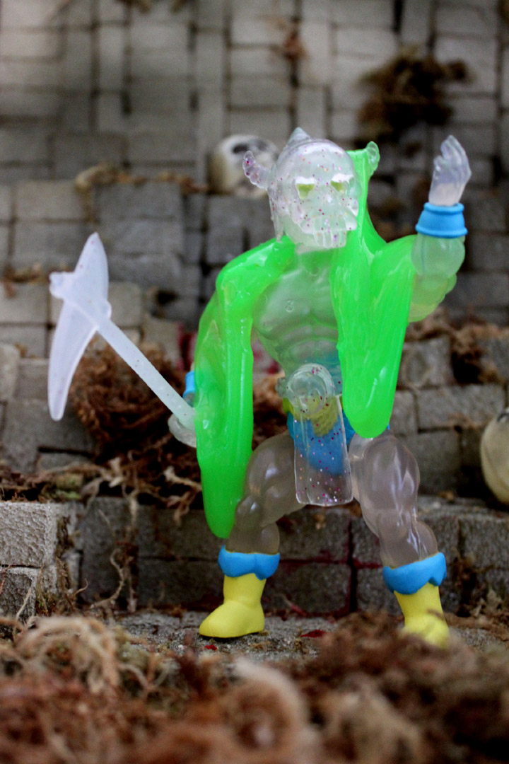 Aquamancer Slimed Drone Vintage Style Translucent Action Figure - Click Image to Close