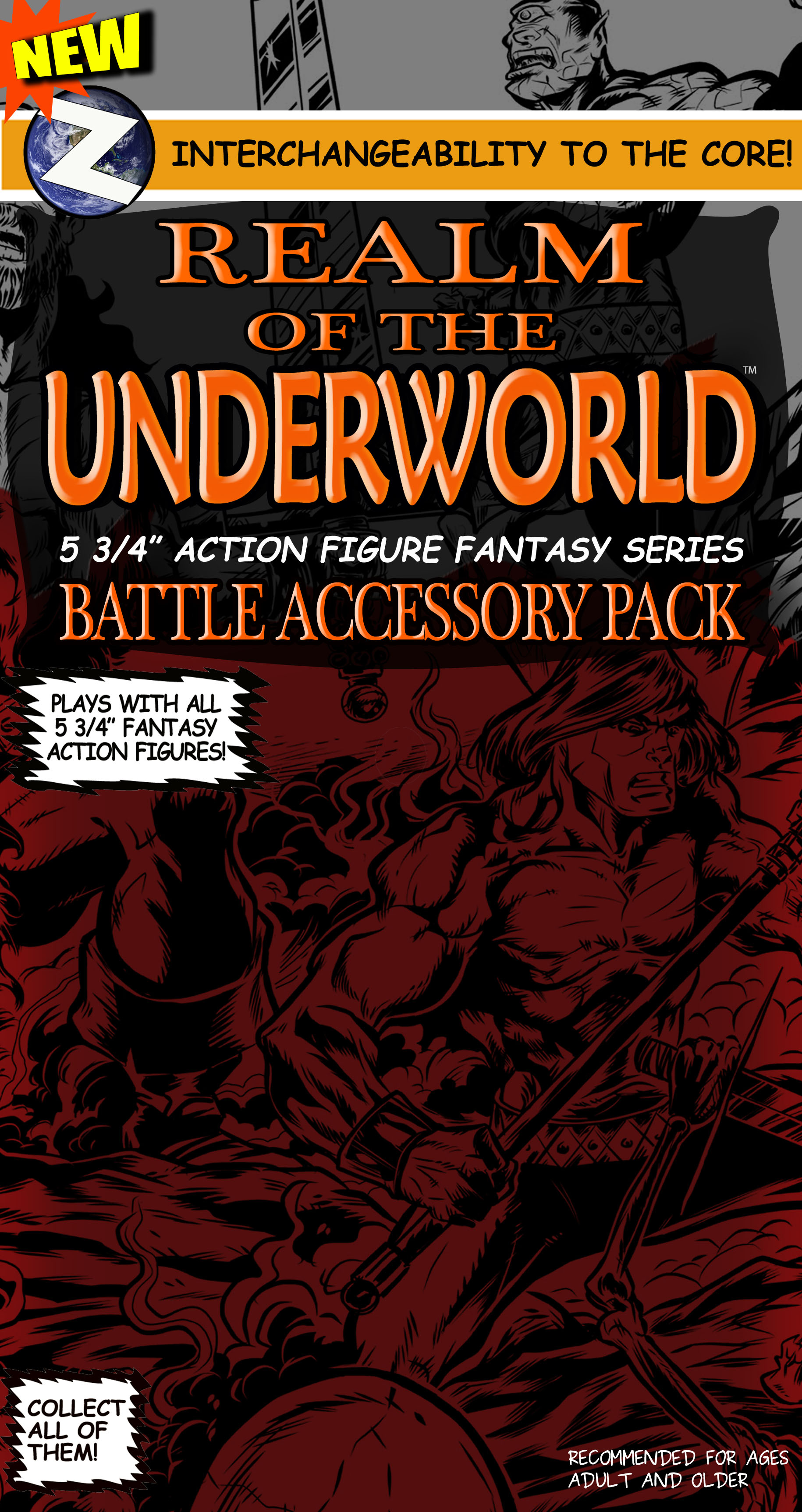 ROTU WAVE 2 Action Figure Interchangeable Battle Accessory Pack