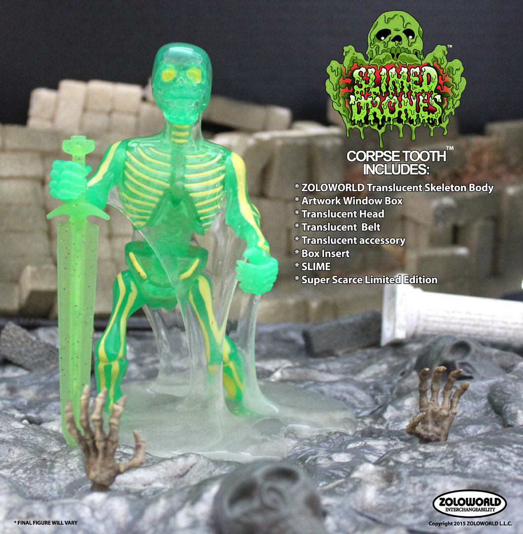 CORPSE TOOTH Translucent Skeleton Warrior with SLIME