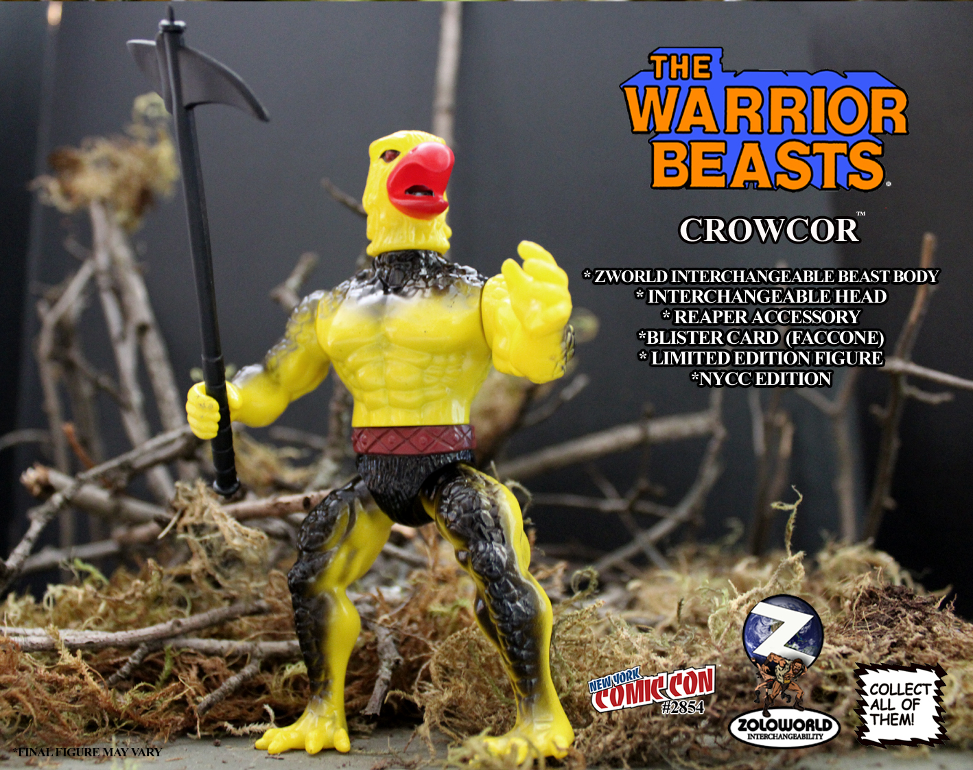 The Warrior Beasts NYCC CROWCOR MOC