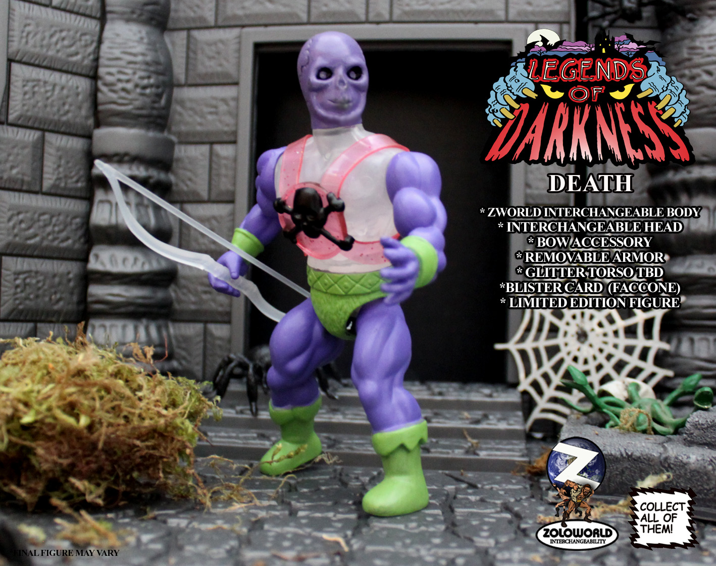 LEGENDS OF DARKNESS DEATH MONSTER FIGURE - Click Image to Close