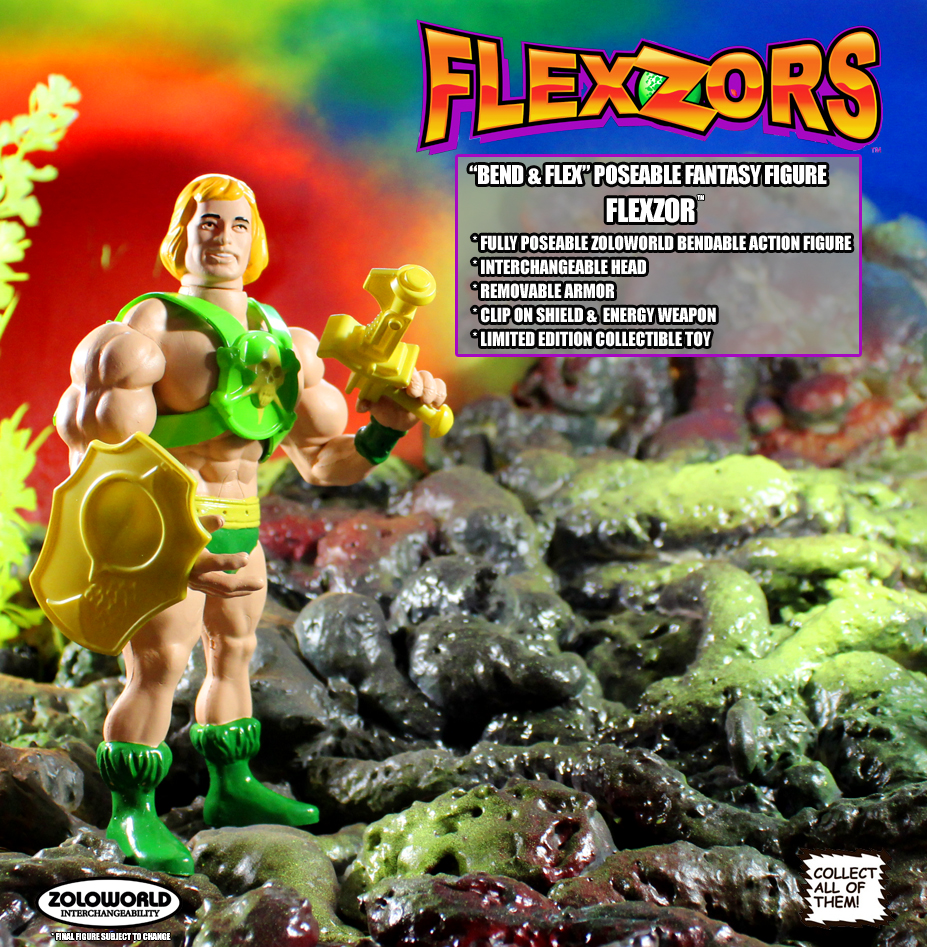 FLEXZOR Champion Of The Games Action Figure MOC Pre-Order