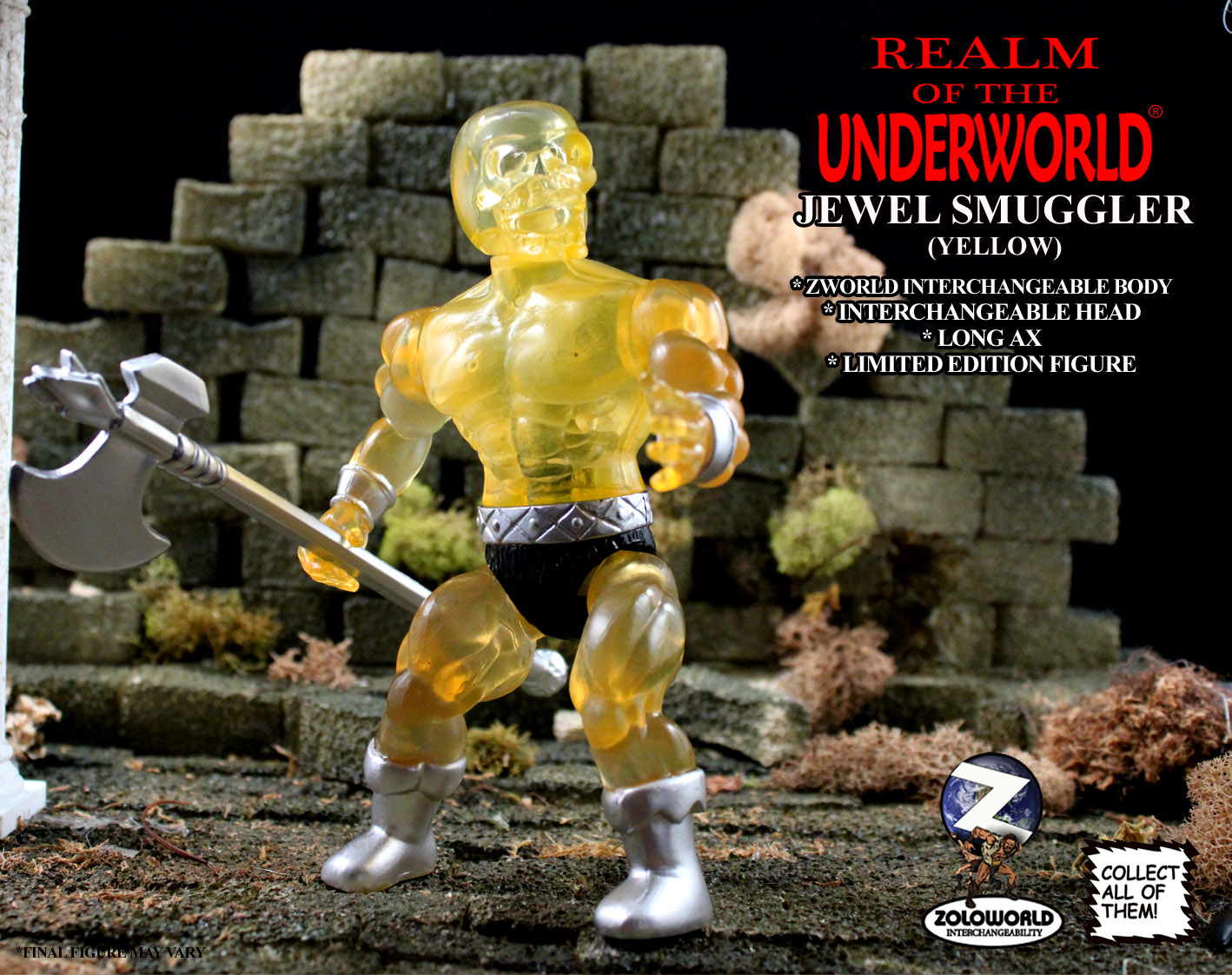 THE JEWEL SMUGGLER (YELLOW) ACTION FIGURE - Click Image to Close