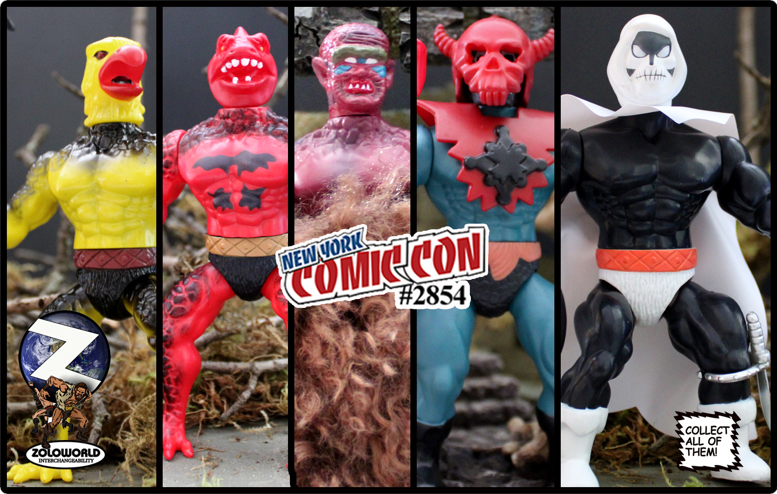 THE NYCC 2019 FIVE FIGURE SET MOC