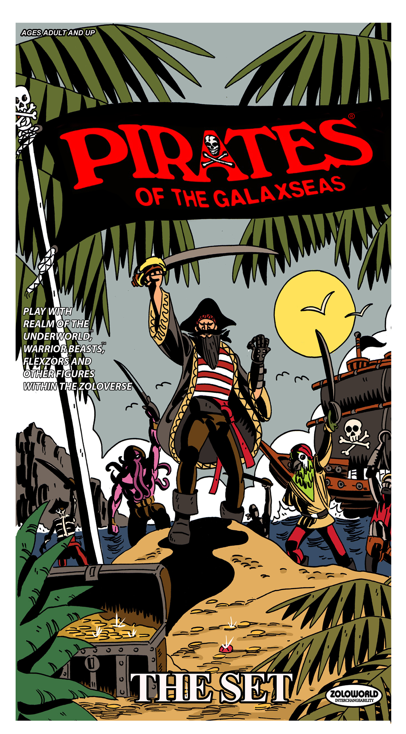 Pirates Of The Galaxseas Set Of 5 Figures - Click Image to Close
