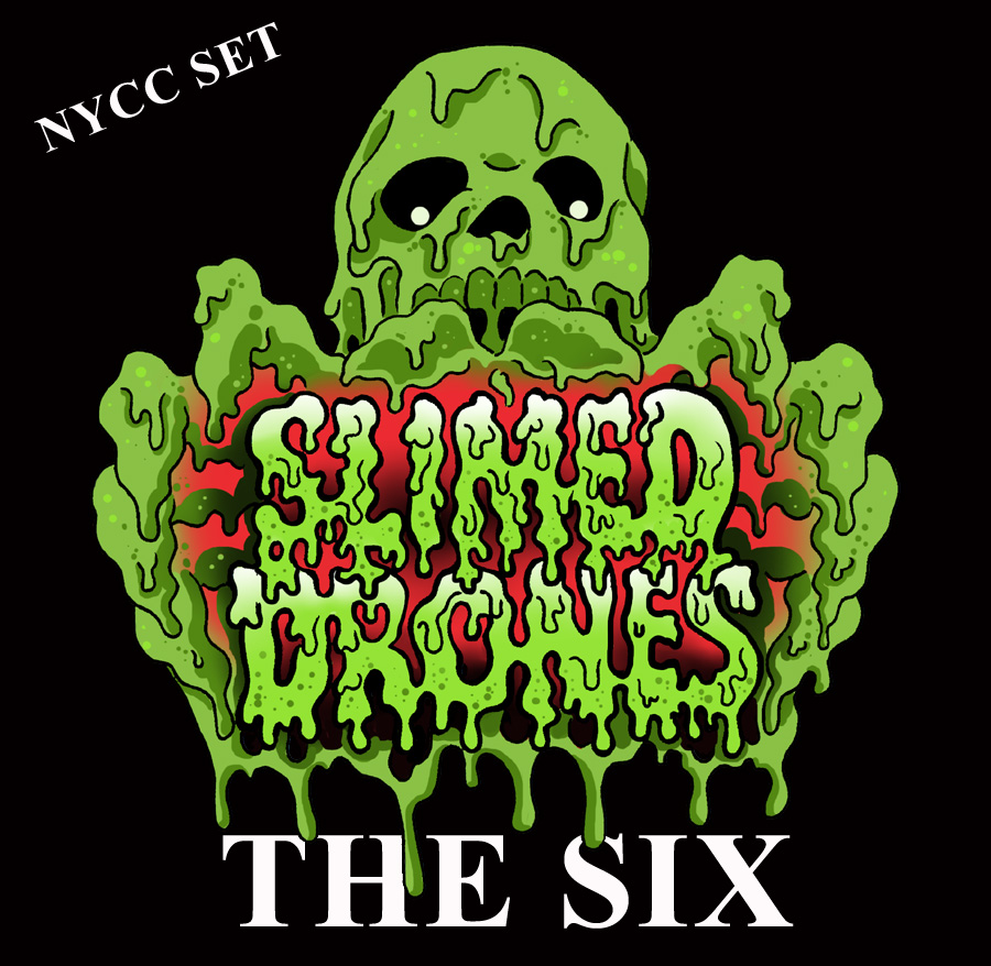 ROTU Slimed Drones THE SIX (6)! NYCC Six Figure Set