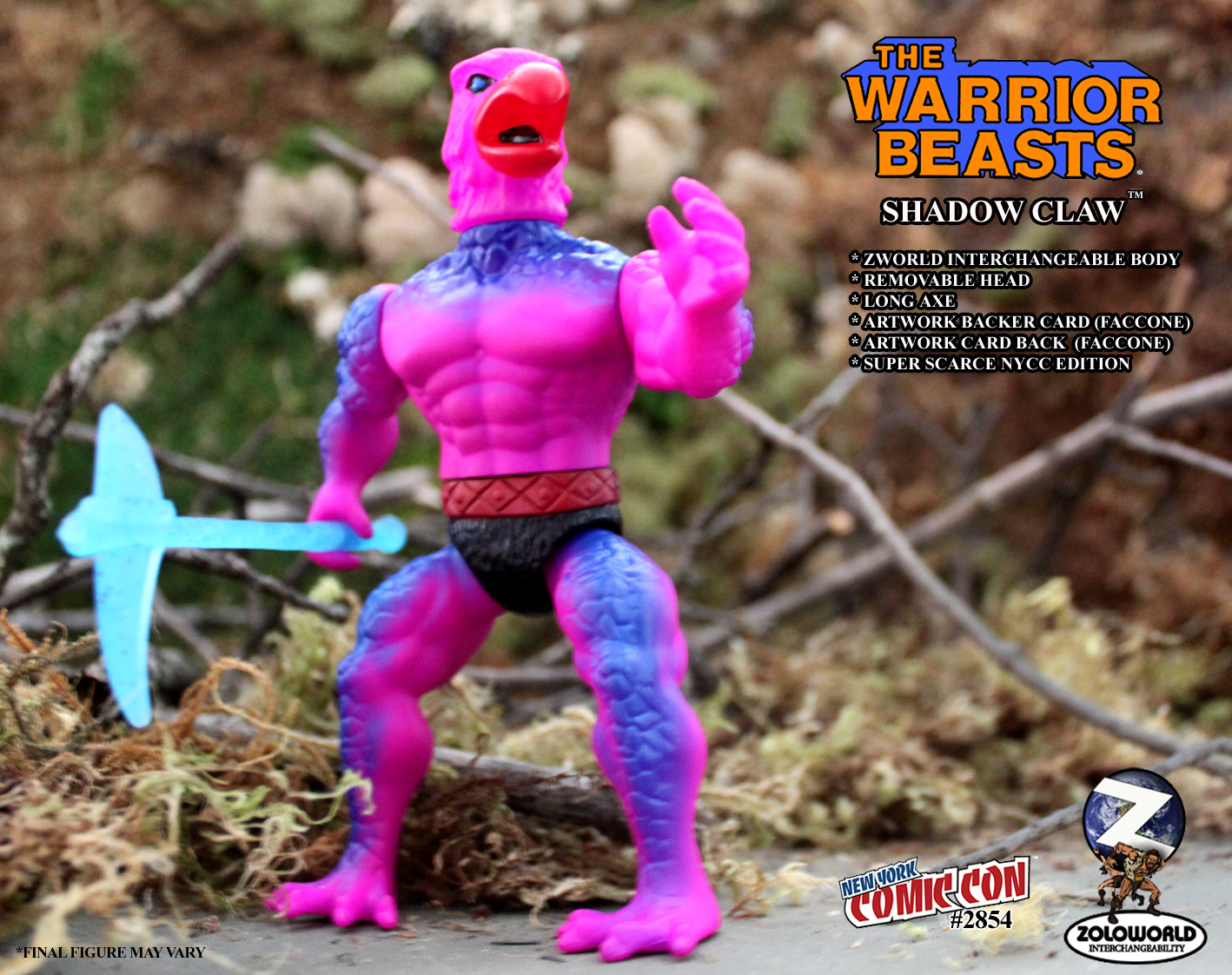NYCC EXCLUSIVE WARRIOR BEASTS WAVE 2 Shadow Claw Action Figure - Click Image to Close