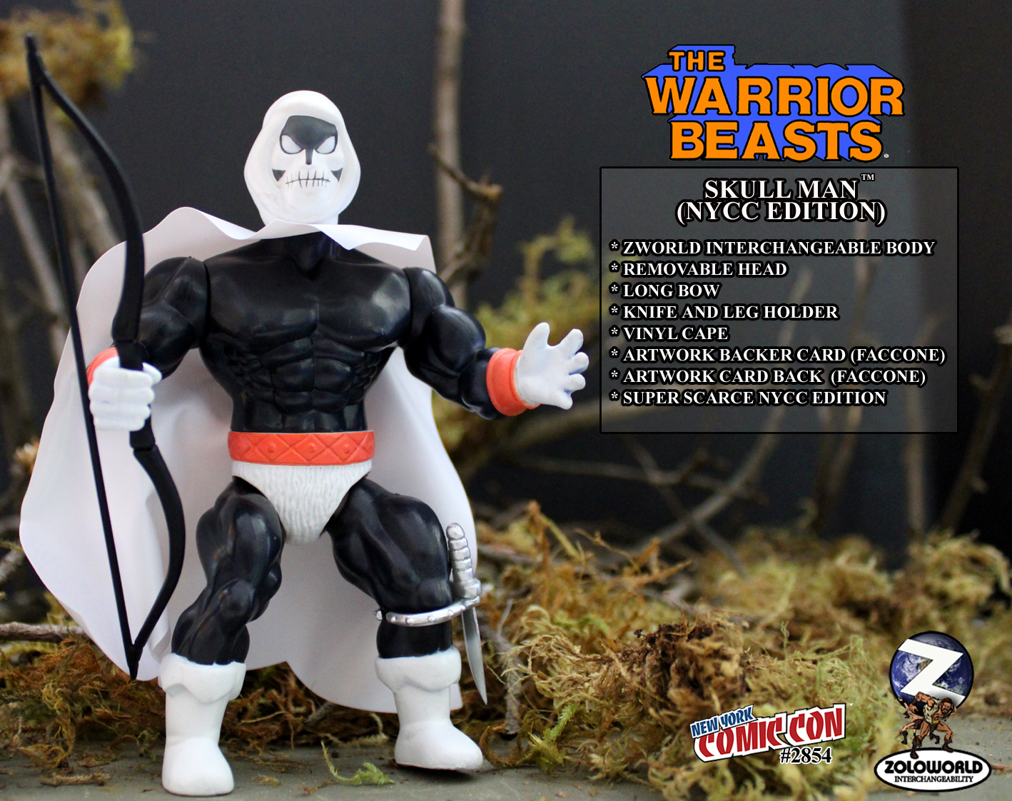 The Warrior Beasts SKULL MAN NYCC 2019 MOC EDITION