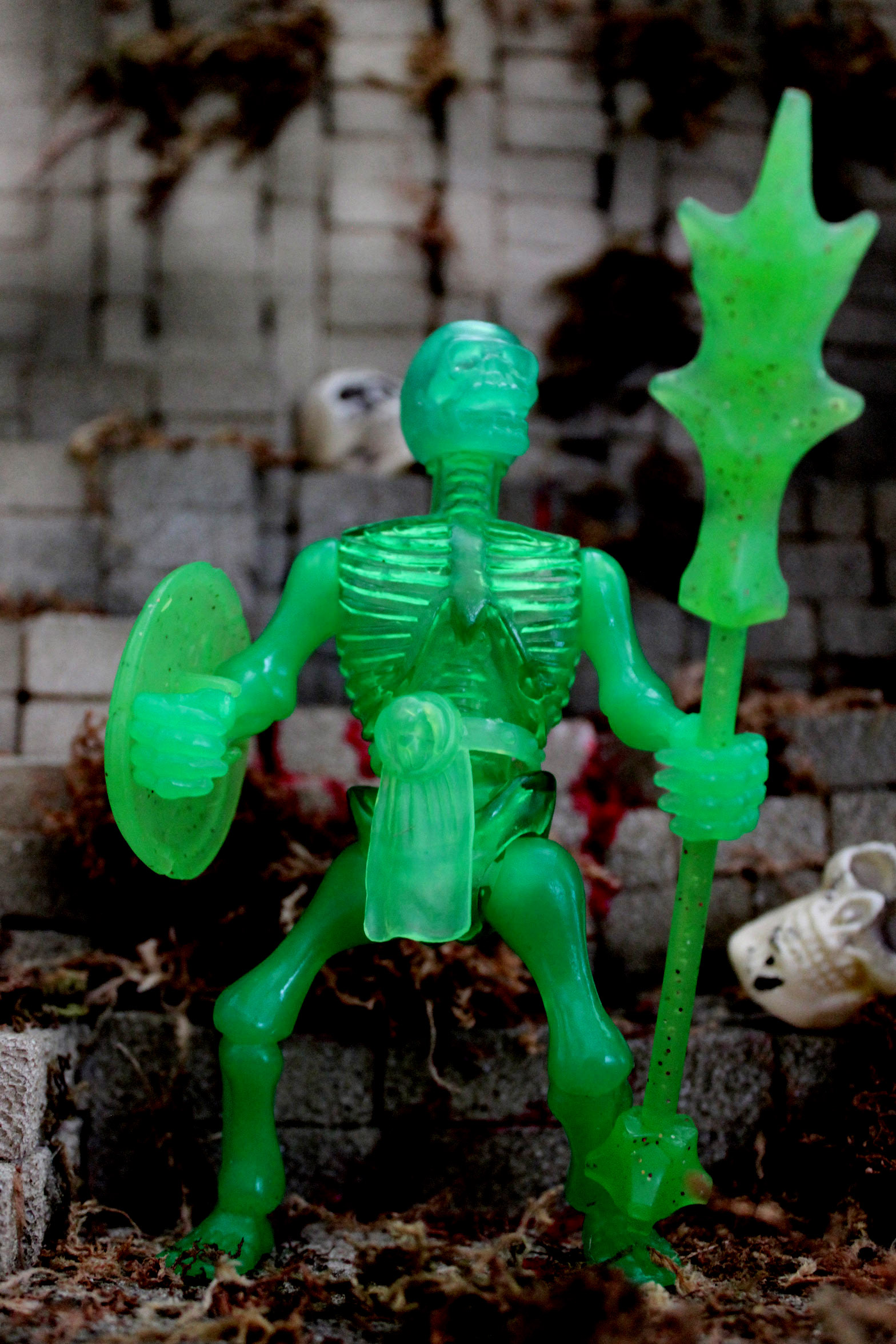 SLIMED DRONES Translucent SWAMP EMERALD PHANTOM MINION MIB