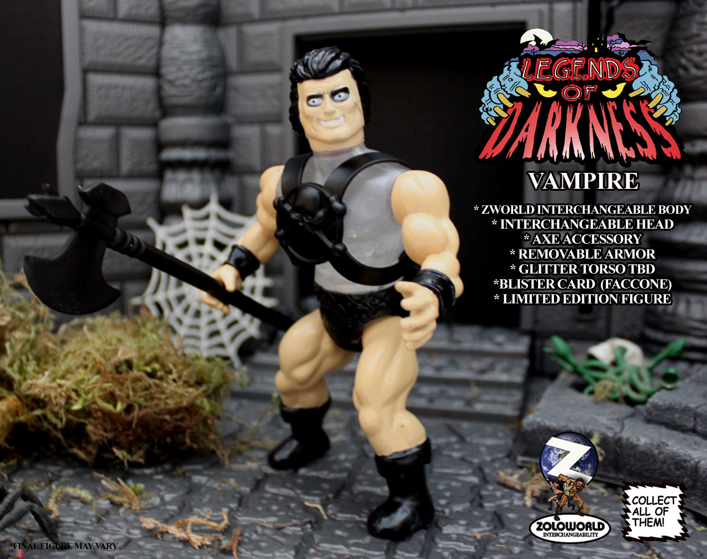 LEGENDS OF DARKNESS VAMPIRE MONSTER FIGURE