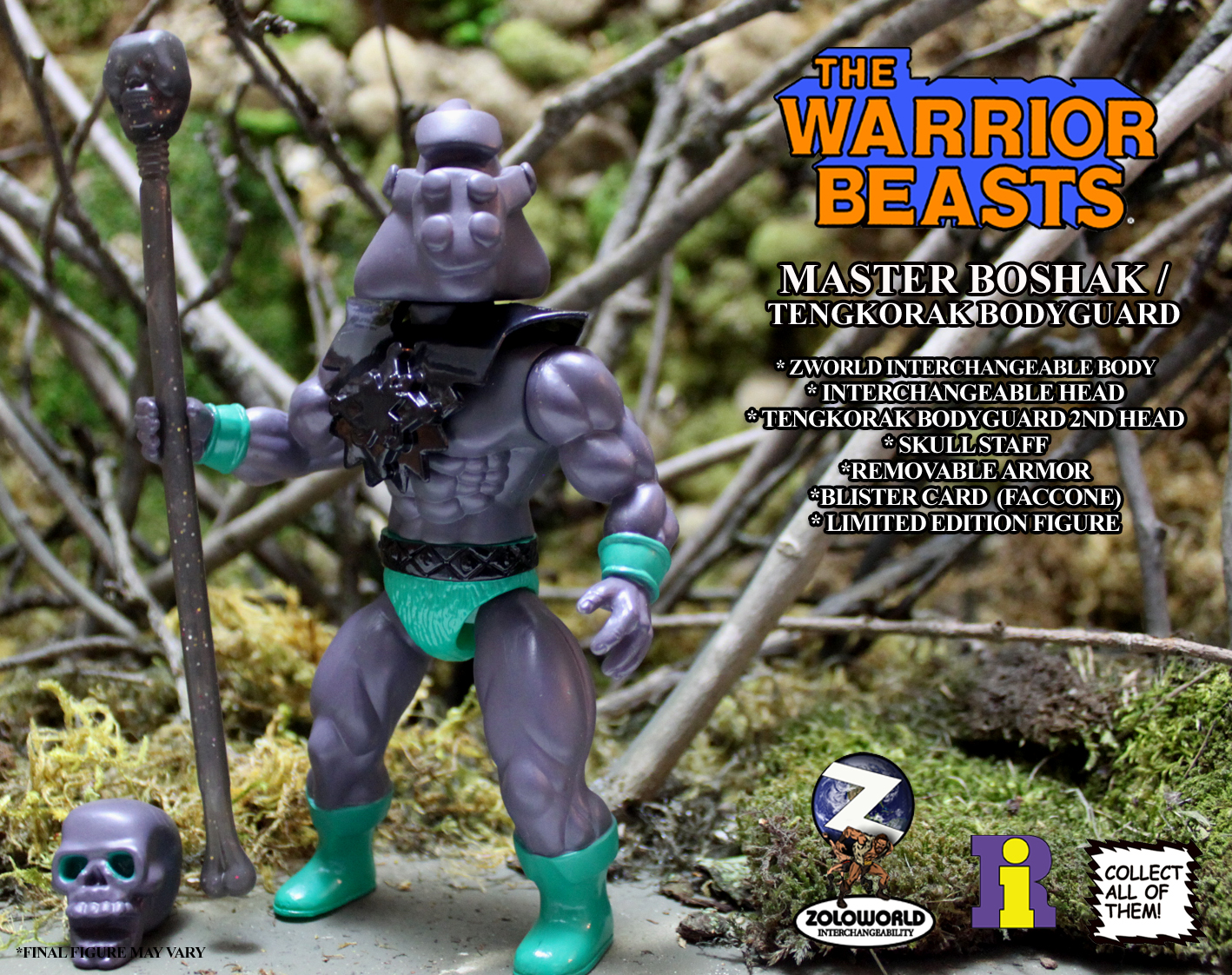 THE WARRIOR BEASTS Wave 1 SET Five Figure SET - Click Image to Close